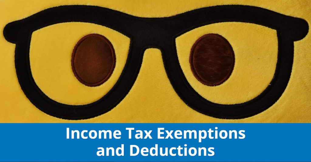 income tax exemptions and deductions